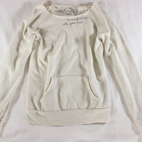 """~~~ TRES-CULT ~~~ ADORBS BELOVE """"DO SMALL THINGS WITH GREAT LOVE"""" SWEATSHIRT ~ S"""