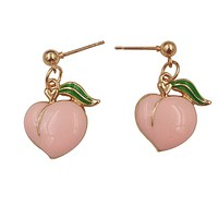 Just a Peach Emoji Earrings