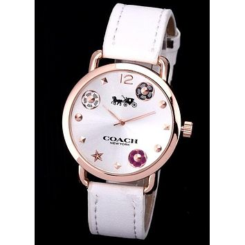 COACH 2019 new men and women models simple wild quartz watch