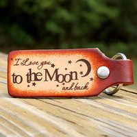 I Love You to the Moon & Back Keychain