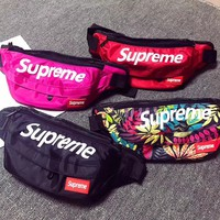 """Supreme"" Unisex Sport Casual Fashion Letter Logo Print Zip Waist Bag Couple Single Shoulder Messenger Bag"