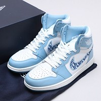 shosouvenir Nike Jordan1 Mid AJ1 Mid top casual sports basketball shoes