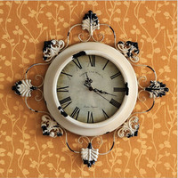 Iron Country Style Vintage Weathered Clock [6282924870]
