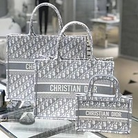 Christian Dior BOOK TOTE OBLIQUE Full-print embroidered letters ladies handbag