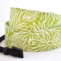 dSLR Camera Strap  Lime Green Floral  Camera by TheSweetStrap