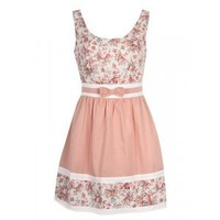DRESS IN FLORAL PRINT WITH BOW FRONT