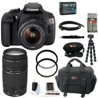 Canon EOS Rebel T5 DSLR Camera with 18-55mm and 75-300mm Lens Bundle and 64GB Deluxe Accessory Kit - Walmart.com