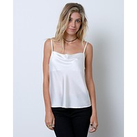 Talk To Me Tank Top - White