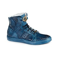 Mauri - 6129 All-Over Baby Crocodile High-top Sneakers
