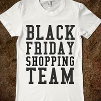 BLACK FRIDAY SHOPPING TEAM FITTED TEE