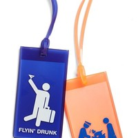 Flight 001 Rubber Luggage Tags (Set of 2)