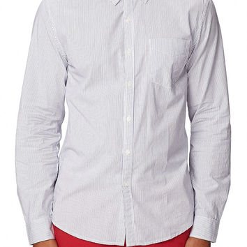 Classic Fit Striped Dress Shirt
