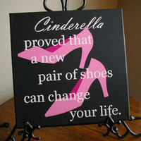 Cinderella's Shoes Canvas Art