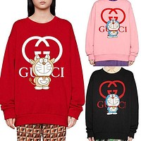 GUCCI 2021 new simple round neck long sleeve sweater