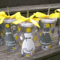 Personalized Bridal party 20 oz. acrylic tumbler-Colors can be customized