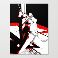 Bad, bad, Naughty Girl - sexy bdsm bondage 3 Canvas Print by Peter Reiss