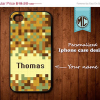 20% OFF SALE Personalized iPhone Case - Plastic or Silicone Rubber Monogram iPhone 4 4S Case Cover - K101