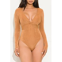 Give It A Rest Bodysuit Camel