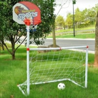 2 in 1 Water & Land Football  Soccer Basketball Toy Set