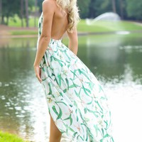 Fringe Catch My Eye White Floral Print Maxi Romper