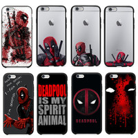 3d Super Cool Marvel Hero Deadpool Coque Fundas Black Soft Silicone Case For Iphone 5 5s 6 6s 6plus Se Cover Case