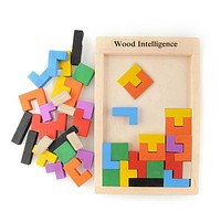 Wooden Tangram Brain Teaser Puzzle Toys