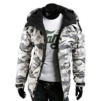 Army Green Trench Coat Men Hoody Camouflage Military Parka Jacket Men Hiver Cotton Mens Brand-Clothing Spring Style High Quality