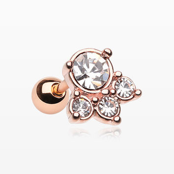 Rose Gold Royal Majestic Cartilage Tragus Earring