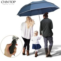 Super Big Golf Business Umbrella Men Rain Woman Double Layer Windproof Paraguas 2flod Big Top Quality Umbrella Outdoor Parapluie