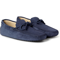 Tod's - Gommino Suede Driving Shoes | MR PORTER