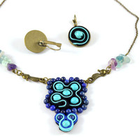 Turquoise Necklace gift for her // Amethyst Gemstone  Necklace Bridesmaid gift // mother gift // Girlfriend Gift necklace // Christmas gift