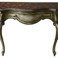 Collette Traditional Free Form Console Table Multi-Color