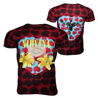 Nirvana Heart Shaped Box Men's Dye T-Shirt