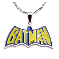 BATMAN BLUE-AND-YELLOW BATMAN PENDANT WI