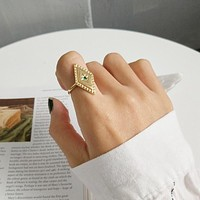 925 sterling silver parallelogram rings simple fashion design mosaic Chrysoberyl elegant rings for women rings charms jewelry