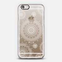 White Mandala Lace Crystal Clear iPhone 6 case by Monika Strigel | Casetify