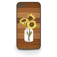 Sunflowers on Wood Phone Case iPhone 5 5s