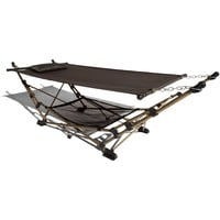 Strathwood Basics Portable Folding Hammock with Carry Bag, Chocolate with Champagne Frame (Discontinued by Manufacturer)