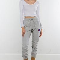 Champion Sweatpants in Silver Grey