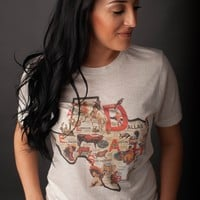 "Gina ""Texas Map"" Tee"