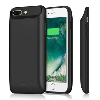 ONETOW iPhone 7 plus 8 plus Battery Case 7200mAh, Upgraded iPosible Portable iphone 7 plus Charging Case Extended Battery Pack, Protective Juice Pack Charger Case for iPhone 8plus(5.5inch)