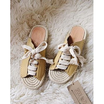 Laced Espadrilles in Mustard