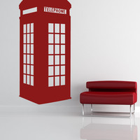 Vinyl Wall Decal Sticker English Phone Booth #OS_MB478