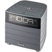 iHome iBT20GC Wireless Bluetooth Alarm Clock Radio Gray W/USB Charging & Aux-in