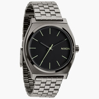 Nixon The Time Teller Watch Polished Gunmetal/Lum One Size For Men 24407311201