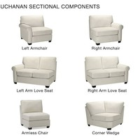 BUILD YOUR OWN – BUCHANAN ROLL ARM UPHOLSTERED SECTIONAL COMPONENTS