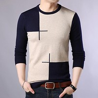 Autumn Casual Men'S Sweater O-Neck Slim Fit Knittwear Mens Sweaters Pullovers Pullover Men Pull Homme