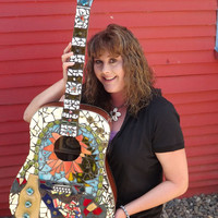 Mosaic Guitar with Case for Artists Exposed