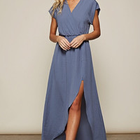 Elegant Maxi Dress - Blue