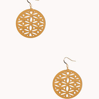 Boho Cutout Medallion Earrings